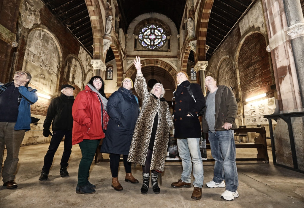 As part of Sailortown Community Day, members from the Mission to Seafarers charity toured St Joseph's Church pictured are: Project Manager Terry McKeown with Elbeth Clarke, Noel Griffin, James Kelly and Moynagh Keenan