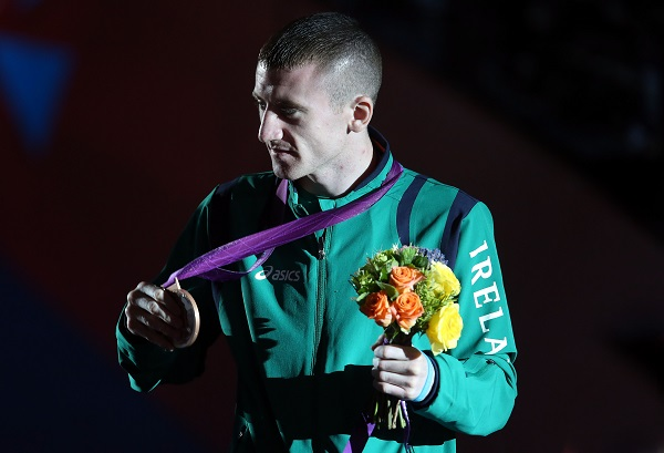 Paddy Barnes with his bronze medal at the 2012 London Olympics