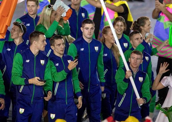 2016 Rio Olympic Games Opening Ceremony, Maracana Stadium, Rio de Janeiro, Brazil 5/8/2016 Irish boxers at the Olympic Games Opening Ceremony Mandatory Credit ©INPHO/Morgan Treacy