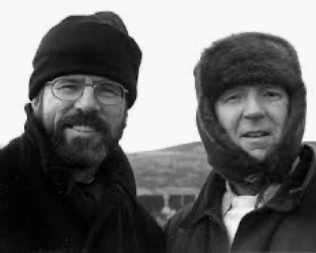 GERRY WITH CLEAKY: