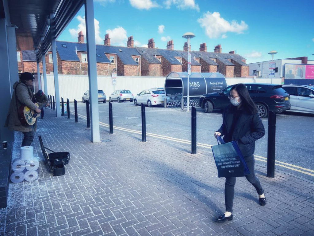 Going to shop at Marks & Spencer on the Lisburn Road yesterday