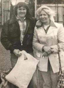 REBEL: Johnny Burns with sister Ena on his release from Long Kesh