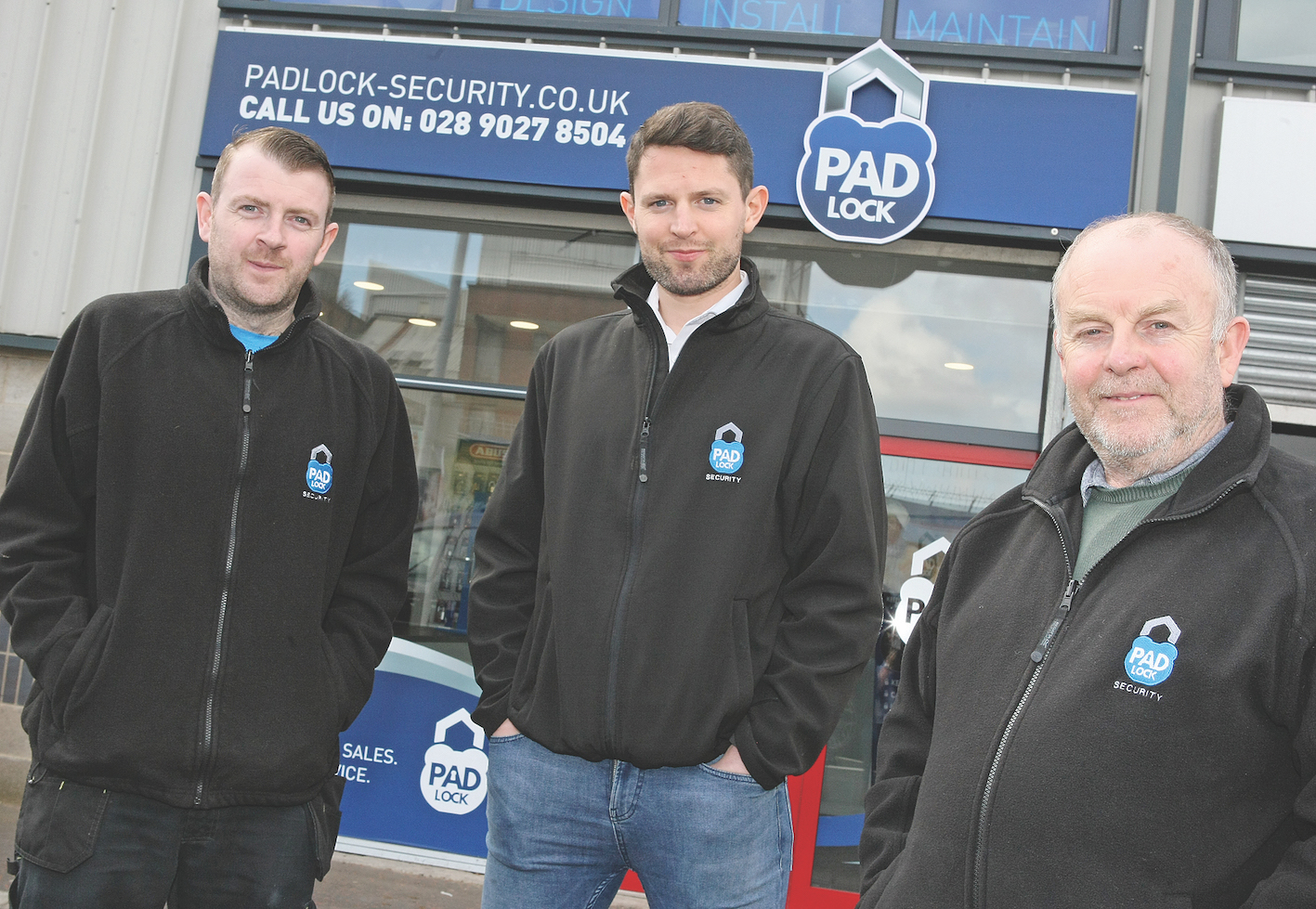 SMALL BUSINESSES FALLING THROUGH CRACKS: Pictured in 2018 at Padlock Security were locksmiths Liam McShane, James Ferrin and Frank Cahill.