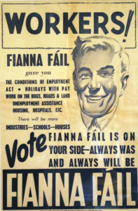 """DID LITTE TO TACKLE PARTITION"": 1948 Fianna Fáil election poster"