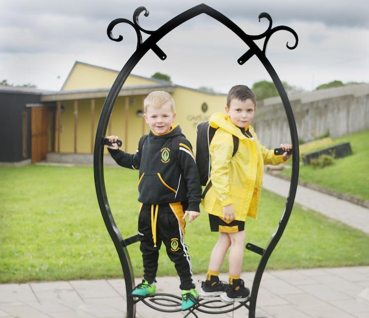 AG FOGHLAIM SA BHAILE: Caílte Quinn and Jarlath Kearney, pupils of  Gaelscoil Eanna now learning at home