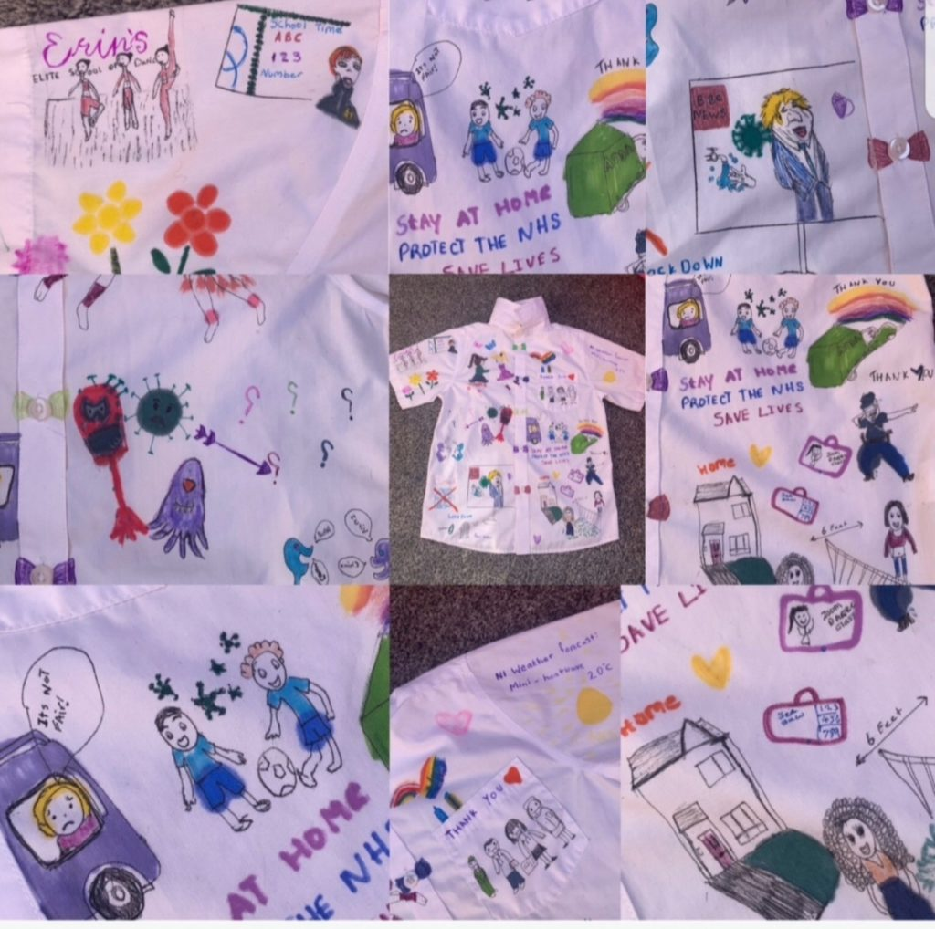 Christ the Redeemer pupils create a colourful tribute to the NHS