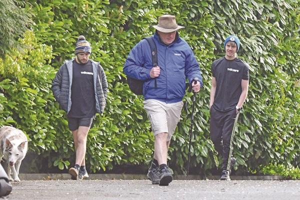 Dr Martin McMullan on his 'Camino' trek at home