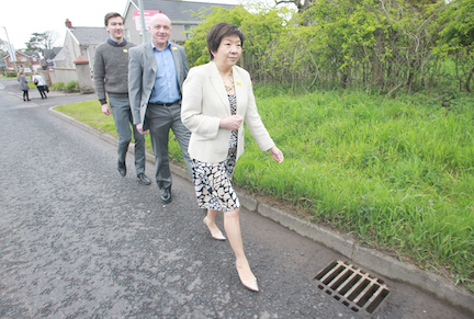 EQUALITY BATTLER: Anna Lo pictured campaigning for the European election in 2014
