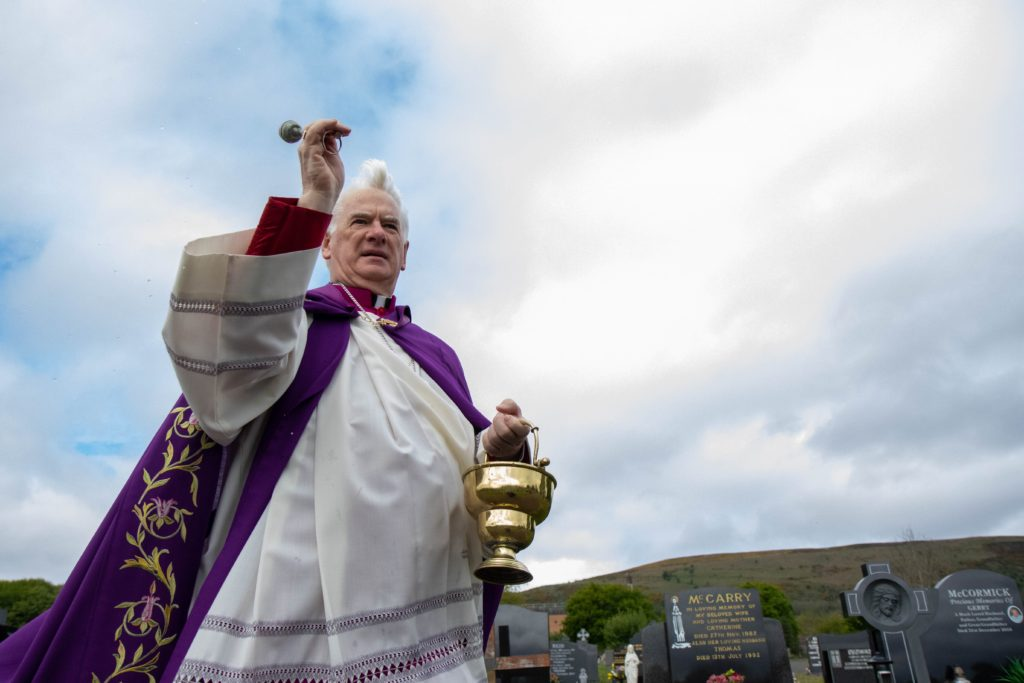 Bishop Noel Treanor visited Milltown Cemetery and City Cemetery for annual Blessing of Graves on Sunday