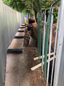 INVESTIGATION: The security fence at the Chinese Consulate