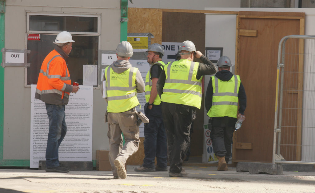 TOP MARKS: Builders on the Ulster University Belfast campus site
