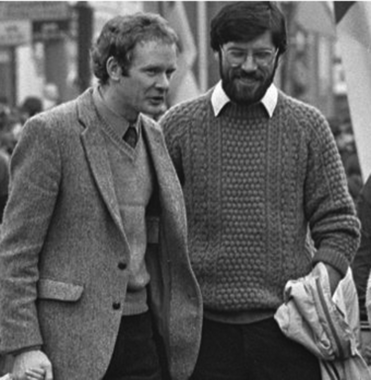 AS YOU WERE: In their younger days, Martin McGuinness and Gerry Adams
