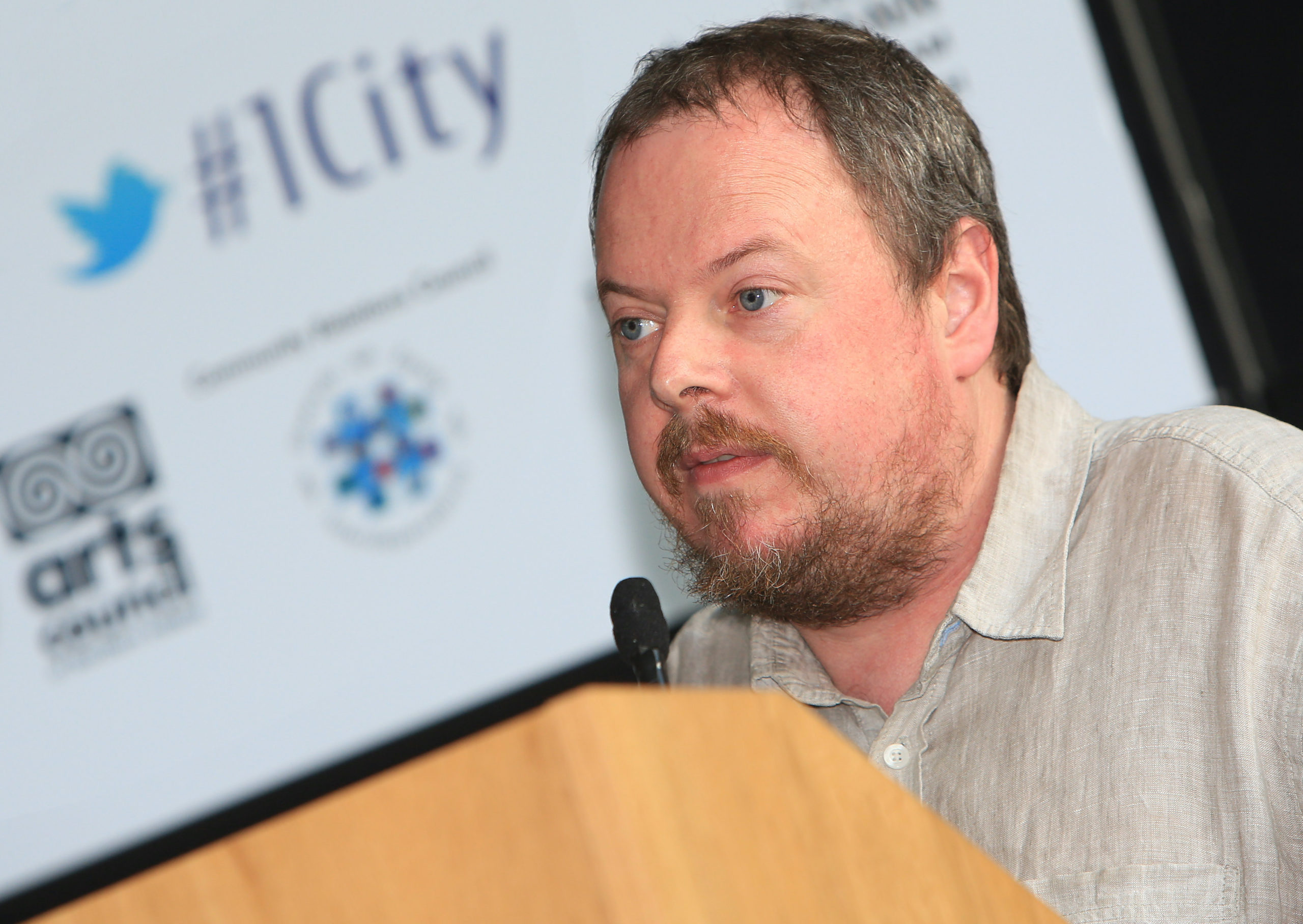 Belfast MET E3, One City Conference \'Lifting the City\' . pictured: Mark Hackett (Forum for an Alternative Belfast) 95JC13