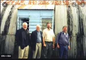 RETURNEES: Gerry Adams with Danny Morrison, Jim Gibney and Martin Ferris on a visit to the Long Kesh cages in more recent times