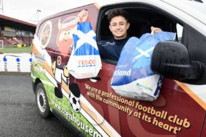 HOME ADVANTAGE: Stenhousemuir players brought food directly to people's houses
