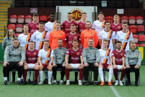 ON THE BALL: Stenhousemuir FC players and coaching staff