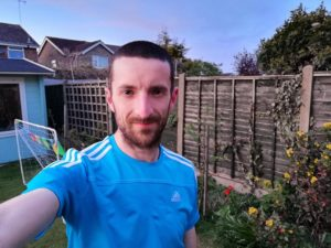 MARATHON MAN: Neil Musgrove putting his best foot forward for an ultra marathon in his back garden in Leeds. Pic Neil Musgrove/Submitted by Leeds Cares