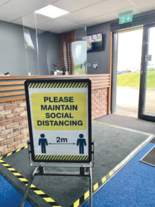 THE NEW NORMAL: The reception area at the Colin Glen Driving Range on the Blacks Road