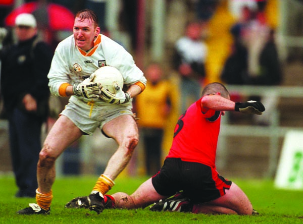 Sean McGreevy saves from Gregory McCartan