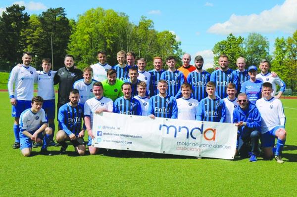 The Aquinas senior team with representatives of MNDA before lockdown