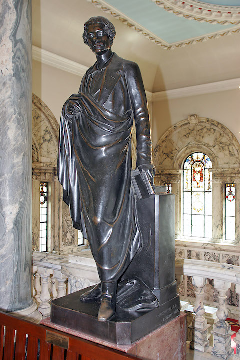 THE FIRST 'BLACKMAN': The original Blackman statue which once stood outside Belfast Tech was that of Fredrick Richard, Earl of Belfast. His statue, which was painted black in a vain attempt to prevent weathering, was removed to City Hall in 1906 where it still stands. It was replaced by the statue of firebrand Henry Cooke. However, the majority of Belfast citizens continued to refer to the tech as the Blackman Tech.