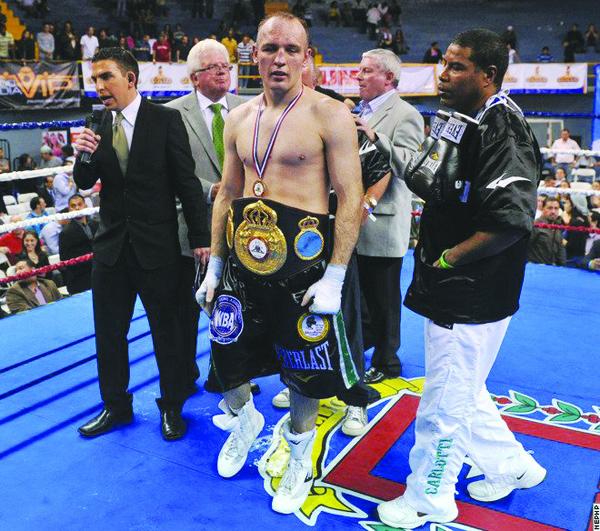 Magee following his WBAtitle win in Costa Rica