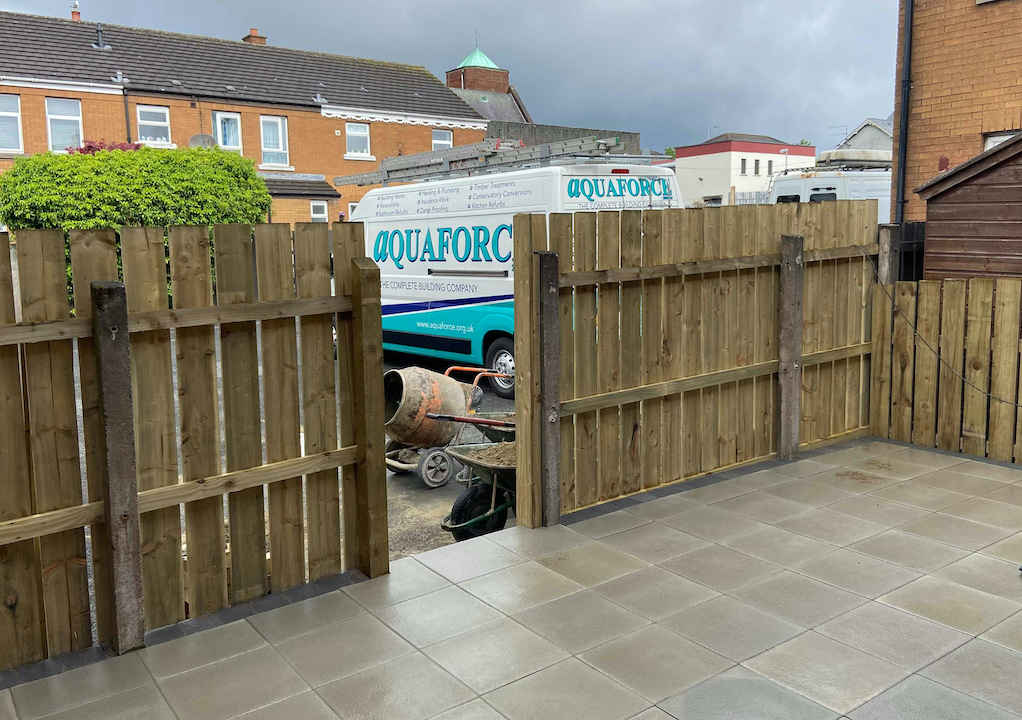 PERFECT: Aquaforce complete another job for a satisfied homeowner.