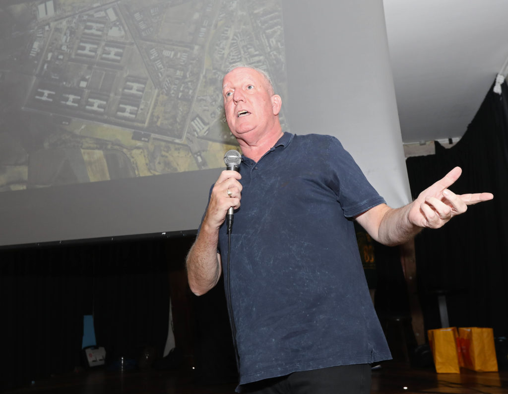 FAMED ESCAPE: Bobby Storey taking part in a talk on the Great Escape in the ASC as part of Féile an Phobail in 2018.