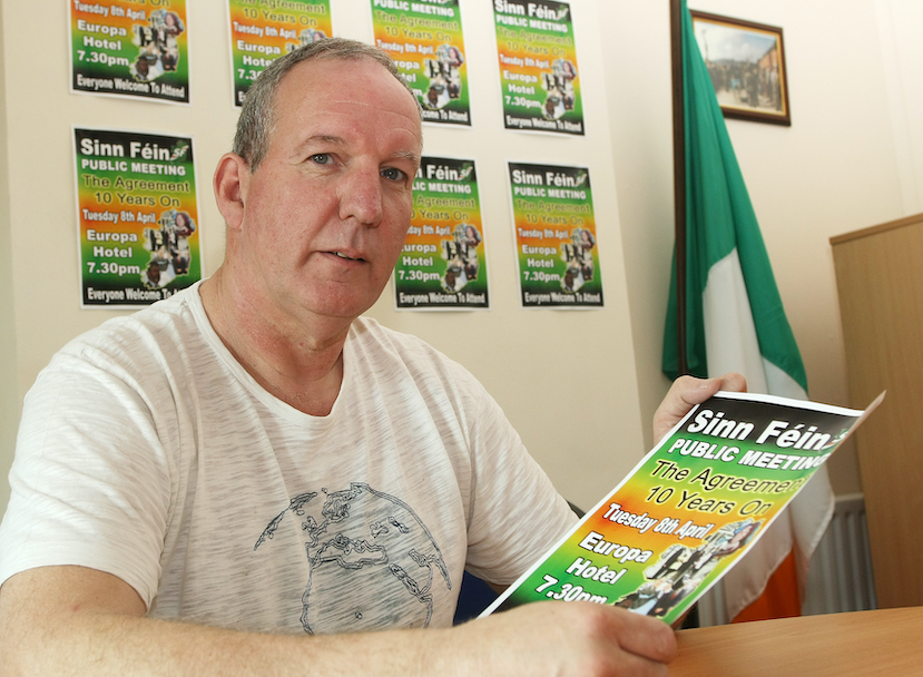 MOURNED: Bobby Storey pictured in 2008 at an event to mark the tenth anniversary of the Good Friday Agreement