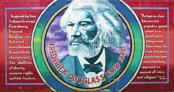 WRITING ON THE WALL: The International Wall mural honouring escaped slave Frederick Douglass who lectured in Belfast in 1845