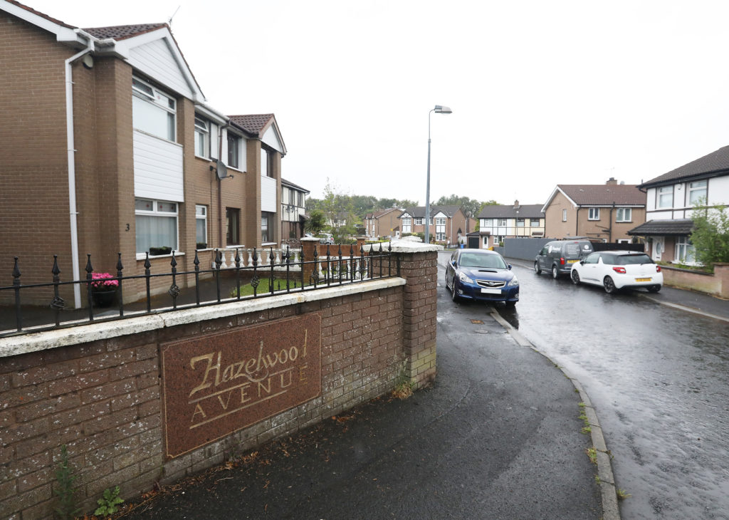 SHOOTING: The scene of last night's attack at Hazelwood Avenue