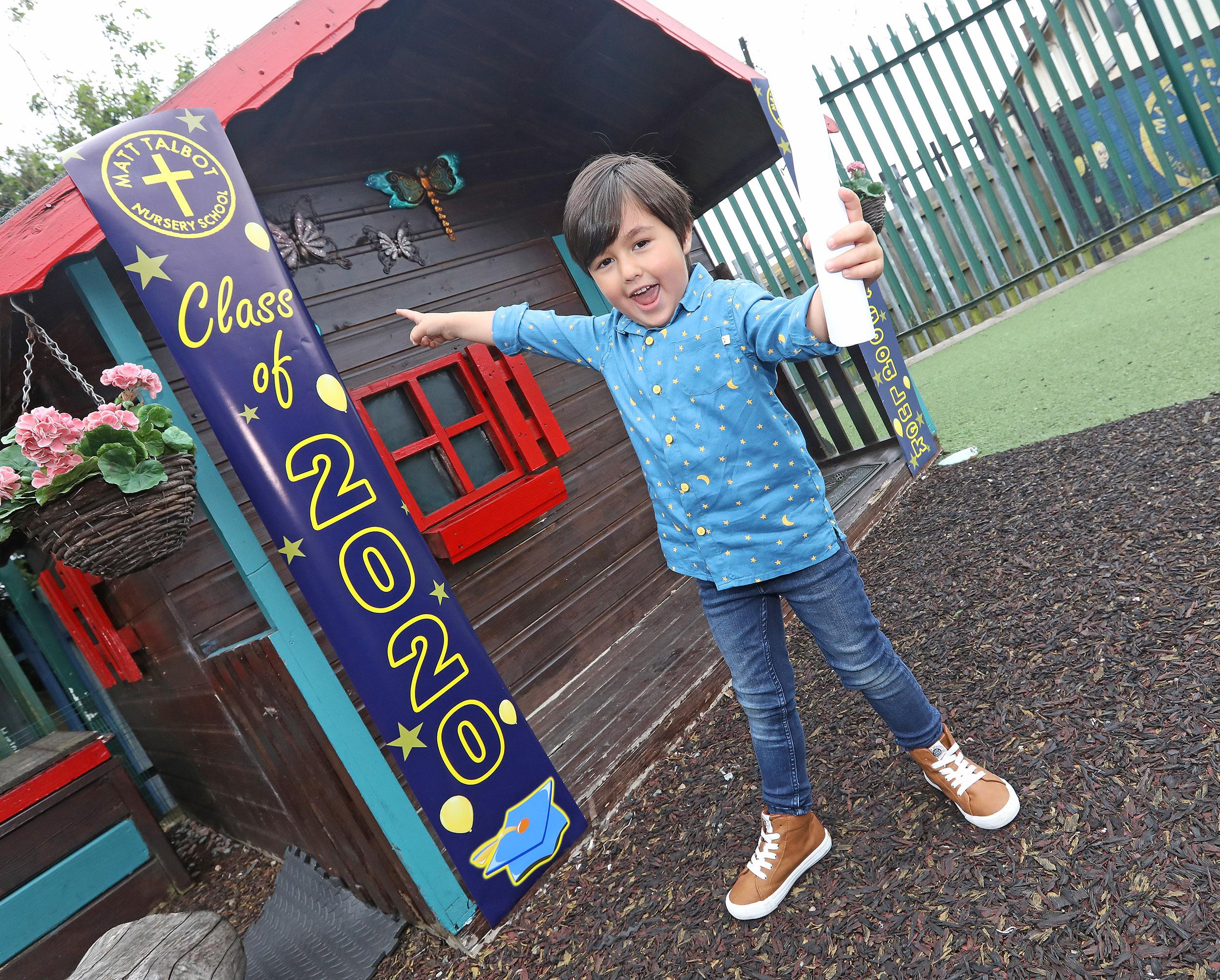 Matt Talbot Nursery School, Class of 2020\n\npictured:\n\nJames Toman\n\n1806JC20