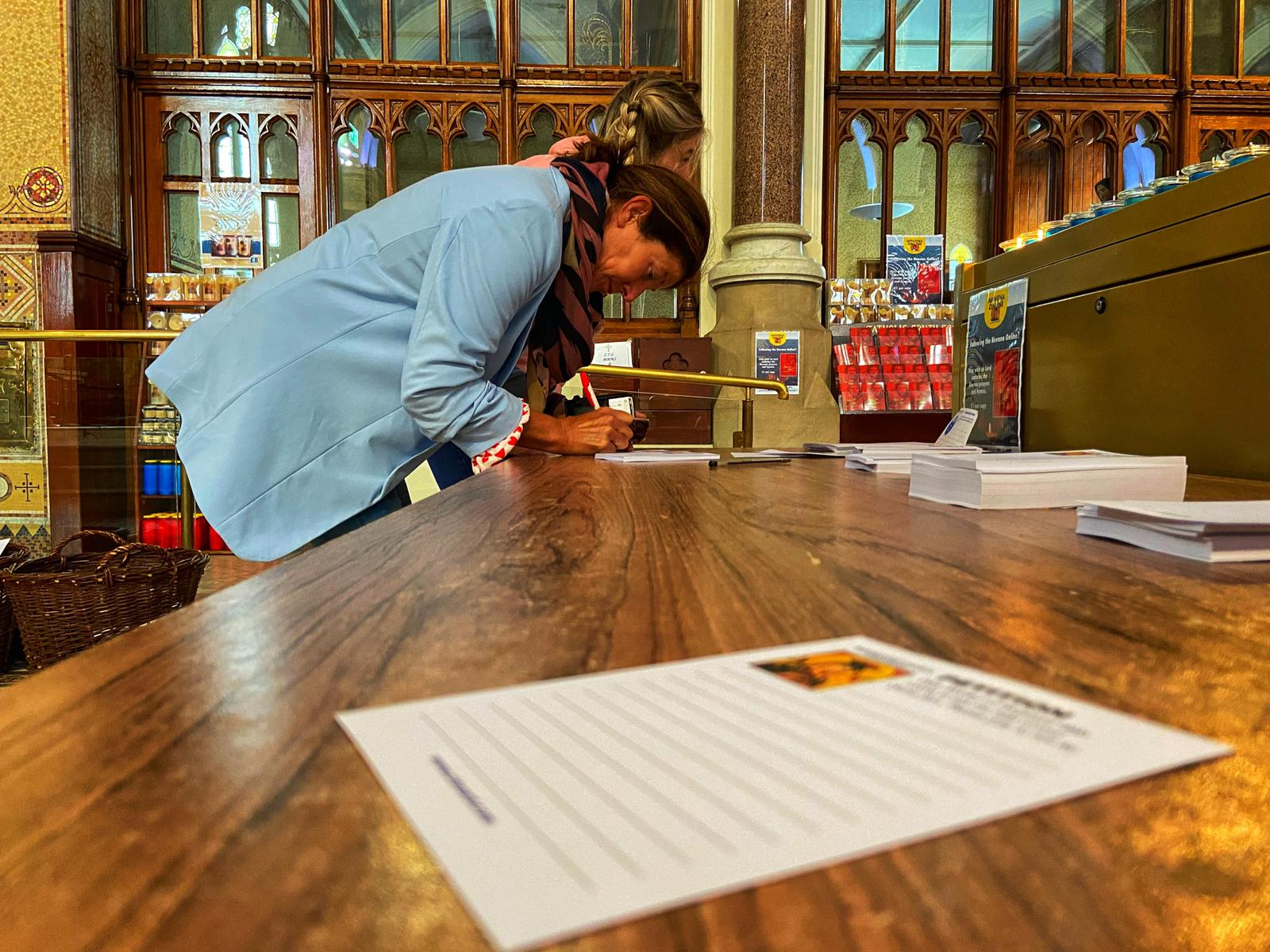 PETITION: Priests at Clonard have encourage mass-goers to continue to call in to submit their petitions. Pics by Thomas McMullan