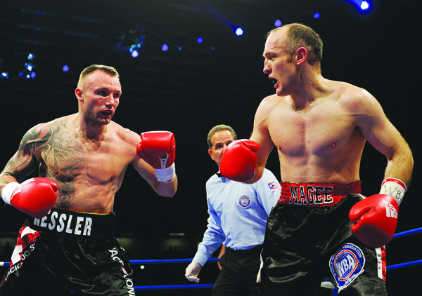 Mikkel Kessler closes in during Magee's final bout in 2012