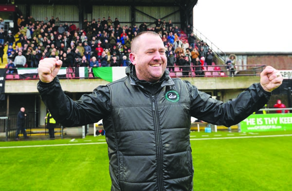 Newington manager Conor Crossan insists he will let his players decide if they are comfortable returning to training
