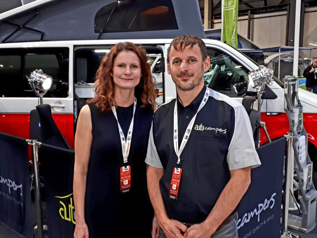TEAMING UP: Highland Auto Campers owner Mark Jarratt with girlfriend Alicia.