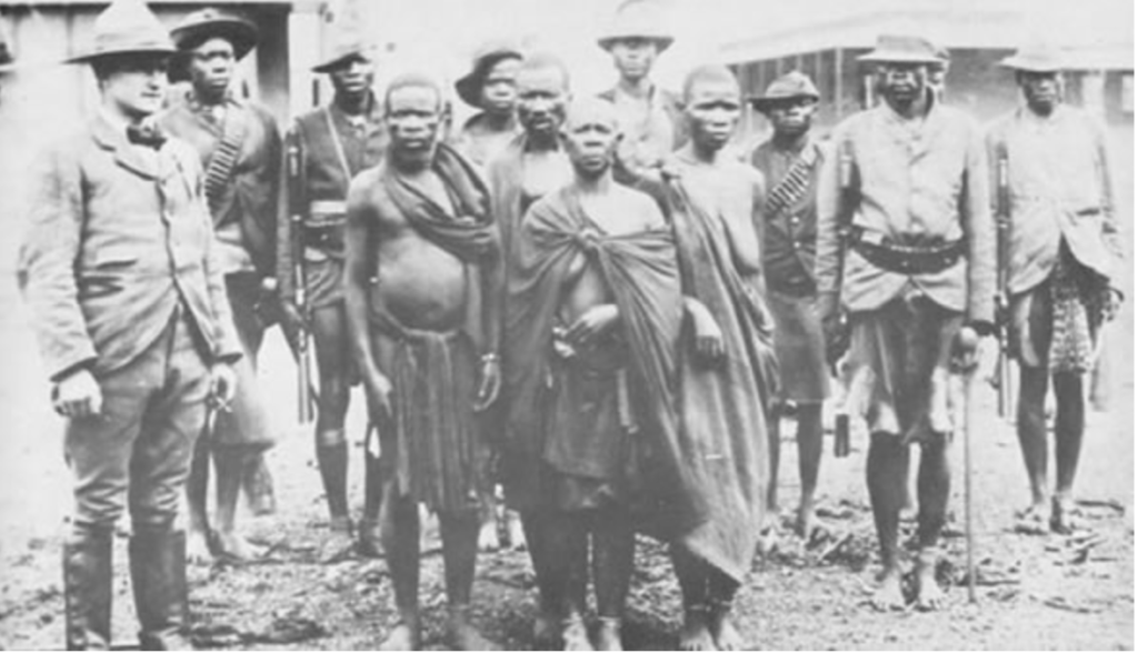 BRITAIN'S COLONIAL CRIMES: Mbuya Nehanda (centre) is regarded as the Mother of the Nation in Zimbabwe and led the first war of resistance (Chimurenga CheKutanga) against European domination of the region.